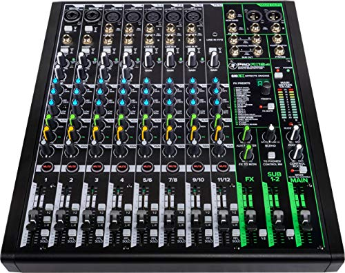 Mackie ProFXv3 Series, 12-Channel Professional Effects Mixer with USB, Onyx Mic Preamps and GigFX effects engine - Unpowered (ProFX12v3)