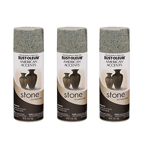 Rust-Oleum 7992830A3 Creations Spray Paint, 3 Pack, Gray Stone, 36 Ounce