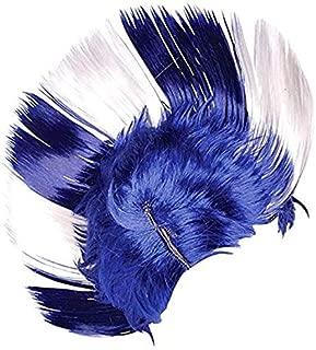 Rhode Island Novelty BLUE/WHITE MOHAWK WIG