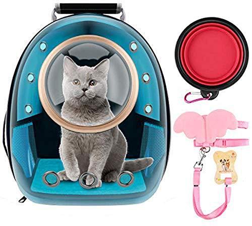 KJDSW Mochilas para Gatos Mochila con Burbujas para Mascotas Mochilas para Gatos Cachorros Perros y pájaros Ventilar Mochila Transparente para cápsulas