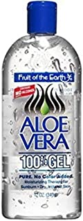 FRUIT O/T EARTH ALOE VERA GEL 12 OZ(Pack of 2)