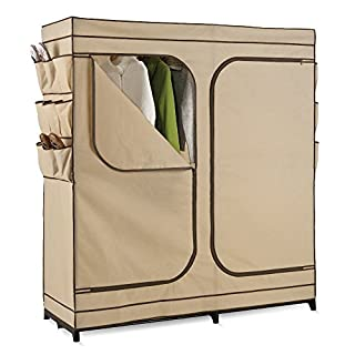Honey-Can-Do WRD-01272 Double Door Storage Closet with Shoe Organizer, 60-Inch (B001F51A58) | Amazon price tracker / tracking, Amazon price history charts, Amazon price watches, Amazon price drop alerts