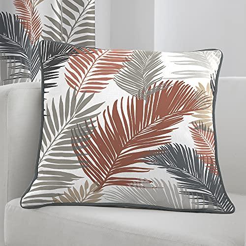 Fusion - Tropical - Cojín Relleno 100% algodón - 43 x 43 cm en Cobre