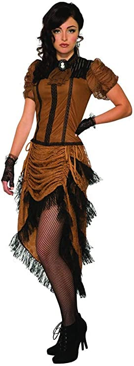 Steampunk Clothing, Fashion, Costumes Womens Last Dance of The Night Saloon Costume  AT vintagedancer.com