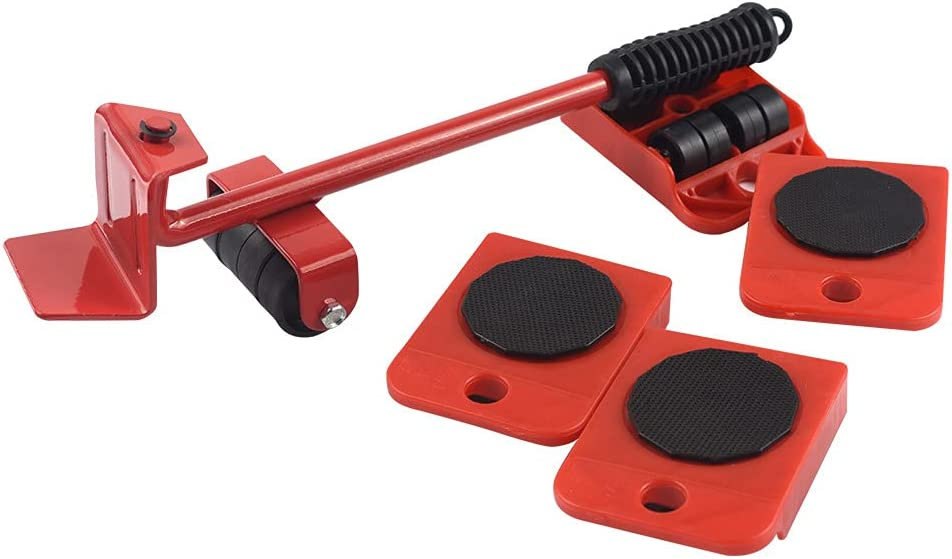 Heavy Duty Lifter for Furniture Move Tools Easy Move Object Moving Tool for Home (Red)