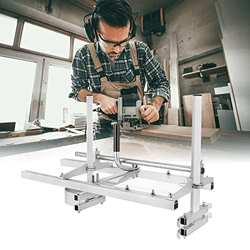 HUKOER Kettensäge Mühle Tragbare Chainsaw Mill Sägewerk Holz Motorsäge Aluminium Stahl Mig Schweißen Sägewerk 14'-48' Planking Lumber Cutting Bar (60cm)
