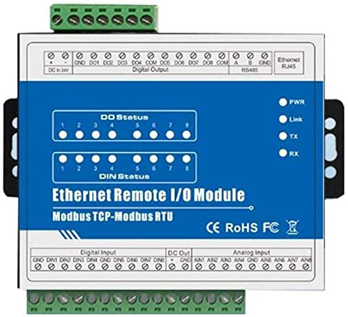 M160T Modbus TCP Ethernet Remote IO Module 8 canali 8 CH Output (8DI + 8DO + 8AI + RJ45 + RS485) Accessori per Stampante Accessori per PC Amazing