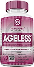Ageless Hydrolyzed Collagen Peptides Capsules: Best Powdered Protein Formula Type 1 & Type 3, Vital for Improved Skin Elasticity, Hair, Skin & Nails, Bone and Joint Health, Faster Metabolism 90