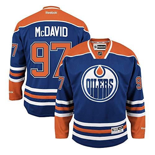 Connor McDavid Edmonton Oilers Reebok NHL Premier Blue Jersey Trikot