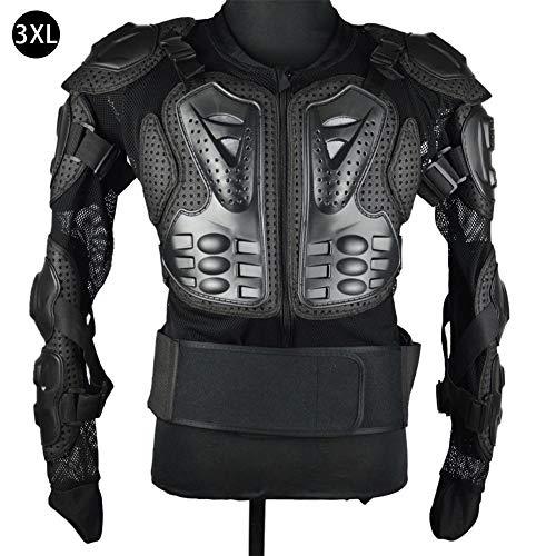 Beschermende motorjas Motocross ATV met rugprotector voor dames en heren 3XL zwart