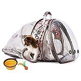 HOTLANTIS Transportin Gato Acolchado y Aceptado por Las Aerolíneas, Bolso Trasportín para Perros y Gatos Portátily Plegable para Perros Pequeños y Cachorros (Pink)