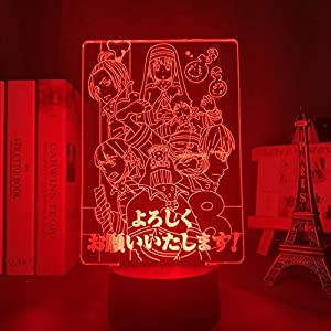 3D Night Light for Kids,Fire& Force Led Lamp for Bedroom Decoration Fire Force Light Lamp Anime for Birthday/Xmas