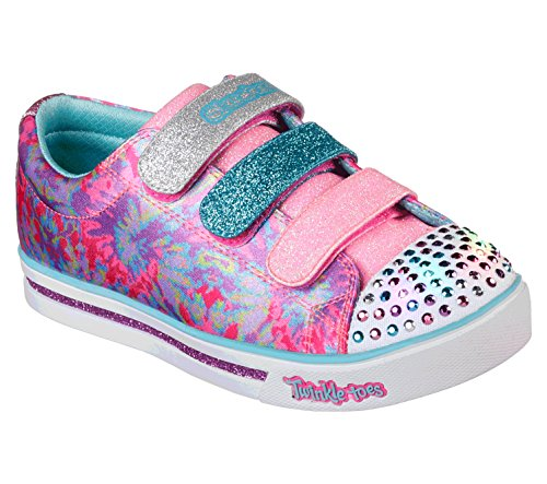 Skechers Mädchen Sparkle Glitz - Pop Party Sneaker, Mehrfarbig (Hot Pink/Multicolour), 35 EU