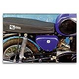 Premium Textil-Leinwand 120 x 80 cm Quer-Format Motorrad der Marke MZ aus der DDR | Wandbild, HD-Bild auf Keilrahmen, Fertigbild auf hochwertigem Vlies,...