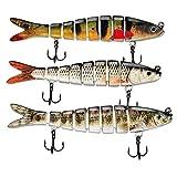 ods lure Esca da Pesca per spigole 8 segmenti Multi Swimbait Kit Esche ad Affondamento Len...