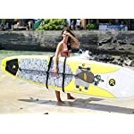 SUP-Now Paddle Board Carrier/Storage Sling 16 ADJUSTS MORE THAN OTHER STRAPS: Works great for paddleboarders of all heights and fits all paddleboards. Whether you are 6'5 with a large paddleboard or you are 4'3 with a small surfboard, our strap will work for you! TRIPLE PADDED SHOULDER PAD: Our shoulder pad is made from soft and durable NEOPRENE for maximum comfort. The idea of these straps is to carry the weight of your board on your shoulder. We put a lot of time and effort making our shoulder pad FAR SUPERIOR to others on the market. REMOVABLE DRAWSTRING BAG: Carry your water bottle, sunscreen or other personal items.