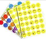1200 pegatinas de caras sonrientes | Pegatina como recompensa para niños Emoticonos cara del diablo computadora portátil, teléfono móvil, decoración diseño emoticonos divertidos