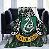 Dominic Art Sly-therin Blanket, Lightweight Travel Blanket, Cozy Plush Keep Warm Throws Blankets for Baby/Kids/Youth/Adult Small (50'X40')