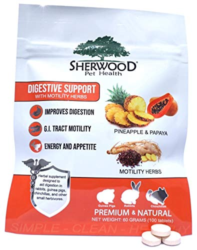 Sherwood Pet Health Digestive Support, Papaya (100 Tablets - 60 Grams)