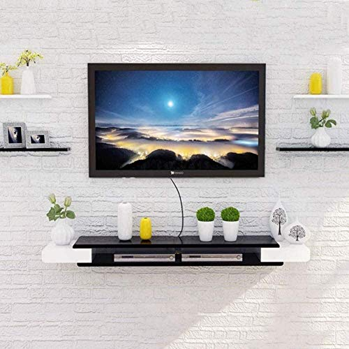 N/Z Einrichtungsgegenstände Schwimmendes Regal Wand TV-Schrank Wand Hintergrund Lagerregal DVD Set-Top-Box Satelliten-TV-Box Kabelbox Lagerregal für Komponenten 2 Schichten/A / 90cm
