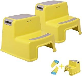 JOOJOM 2 Step Stool for Kids (2 Pack) Toddler Stool for Toilet Potty Training | Slip Resistant Soft Grip for Safety as Bat...