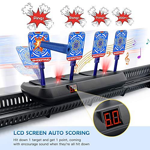 HOPOCO Bewegliches Digitale Zielscheibe für Nerf, Linke und Rechte Bewegliche Elektrische Zielscheibe Auto Reset Elektro-Schießscheiben Shooting Target Spielzeuggeschenk für Kinder