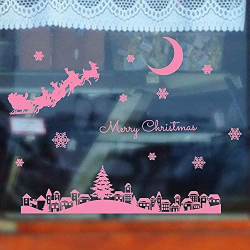 Pegatinas De Pared De Corazón Negro Ocean Christmas Christmas Restaurant Mall Snow Kids Room Sala De Estar Dormitorio Diy Etiqueta De La Pared De Vinilo 44X64Cm