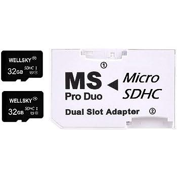 NLC [ 東芝チップ内蔵 ] オリジナルブランド micro SDHC 32GB Class10 クラス10 UHS-I U1 2枚 & メモリースティック ProDuo 変換アダプター 1枚 [ メモリースティック Pro Duo mark2 64GB Memory Stick Pro Duo 64GB ] NEX-3 NEX-5 α55 α33 NEX-C3Y NEX-5N NEX-7 α200 α300 α350 α550 α700 α900 α65 α77 α57 NP-FM500H NP-FW50 NP-FZ100 NP-FV100 NP-FV100a NP-FV70 PSP