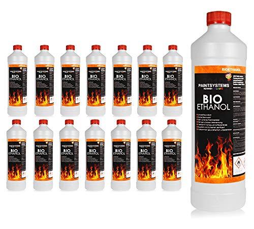 BIO ALKOHOL 100% 15 x 1Liter - BIOETHANOL für Alkohol-Kamine