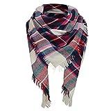Zando Soft Warm Tartan Plaid Scarf Shawl Cape Blanket Scarves Cashmere Blanket Fashion Wrap Green Rose Tartan Scarf