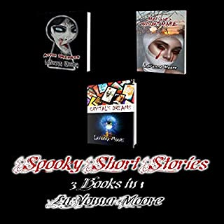 Spooky Short Stories: 3 Books in 1                   Written by:                                                                                                                                 LaVonna Moore                               Narrated by:                                                                                                                                 Pamela Miller                      Length: 3 hrs and 24 mins     Not rated yet     Overall 0.0