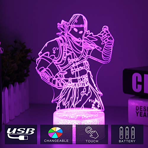 Raven Skins Table Desk Lamp 7 Colors Touch Switch 3D Visual LED Lava Light Acrylic Illusion Room Lighting Toys Gifts(Crack Raven)