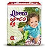 Pañales Libero Up&Go talla 7 – 16 – 26 – 72 unidades (4 paquetes de 18)