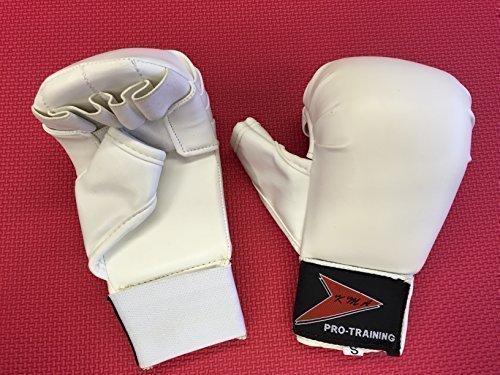 Vader Sports Kinder Karate-Handschuhe Karate-Handschuhe Junior Vollkontakt Karate-Hand Sicherheitshandschuhe klein (weiß)