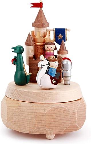 Unbekannt Spieluhr Kinder Massivholz Spieluhr Castle Princess Kinder Geburtstagsgeschenk Boy Boy Home Fashion Dekoration (Farbe   Castle Princess)