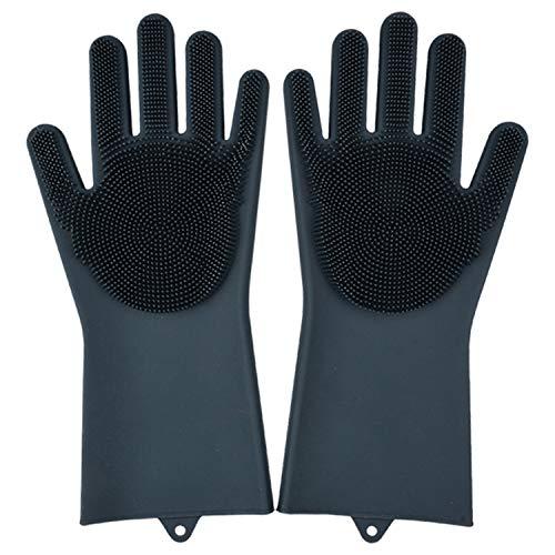 1 par de guantes mágicos de silicona para lavar platos, lav