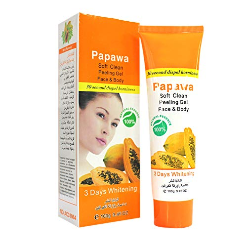 Hanyia Peeling-Creme, Peeling-Gel, Hautpflege, feuchtigkeitsspendendes und aufhellendes Gesichts- und Körper-Peeling-Gel – Papaya