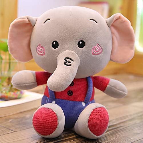 DONGER Elefant Spielzeug Stoffpuppe Puppe Schlaf Kissen Größe mädchen mädchen Puppe Kinder Tag Geburtstagsgeschenk, Rot, 60cm