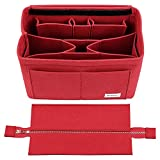Bridawn Felt Purse Organizer Insert Bag organizer with Zipper Cover Compatible with Neverfull Tote