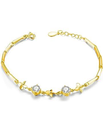 3b09677495f8ab sassu fine(サスファイン)スワロフスキージルコニア 925純銀製 幸運を呼ぶクローバー ブレスレット