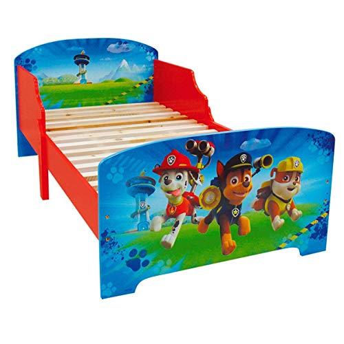 Fun House 712532 - Cama Infantil con Listones de Madera (140x70x59cm), diseño de la Patrulla Canina