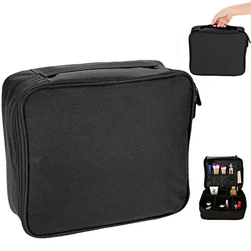Cosmetic Bag, Fashion Stylish Portable Zipper Toiletry Bag Makeup Organizer for Home and Travel Use(Poche noire)