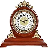 NOBGP Mantel Reloj de Madera silenciosa Decorativa Reloj de