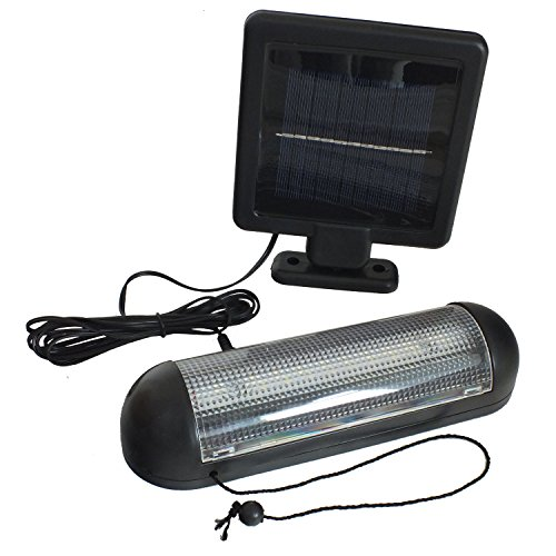 Voche 10 SMD LED Solar Powered Garden Shed Light Rechargeable Garage Lighting Patio Lamp