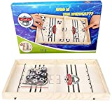 HUOHUOHUO Funny Fast Sling Puck Game Paced SlingPuck Winner Board Family Games Toys