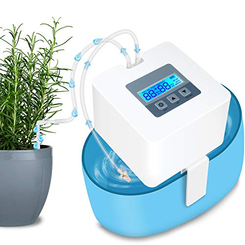 DIY Sistema de Riego, automático Vacaciones Dispositivos de riego Kit con 33 ft Manguera para Flores, Terraza, Jardín o...