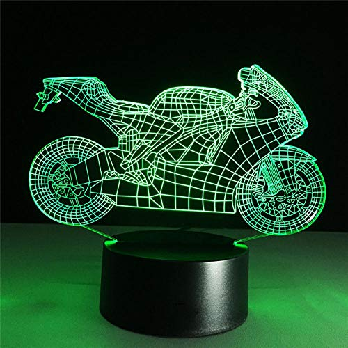Speed & Passion 8 Novel Motorcycle LED Light Night Light Action Figure 7 kleuren Touch Table Decoration Optische illusie
