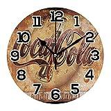 Coca Cola Vintage Reloj Decoración de Pared Acrílico Decorativo Redondo Funciona con Baterías Relojes de Pared para el Hogar Dormitorio Salón Decoración Silencioso No Ticking
