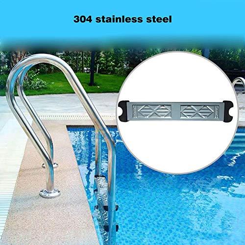 Schwimmbeckenleiter Stufen, Schwimmbad-Pedal, Edelstahl Sprossen Poolpedal Sprossenstufen Anti-Rutsch Poolleiter Zubehör