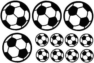 12Pcs Footballs/Sheet Wall Stickers Decals Vinyl Wall Sticker Art Sports Boys Poster Kids Room for Home Decoration